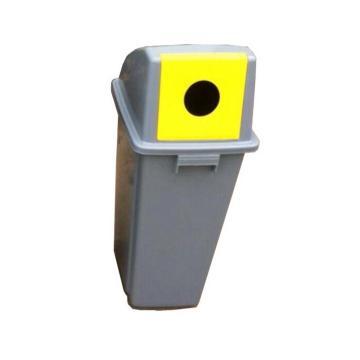 方形瓶罐回收箱,50L,浅灰