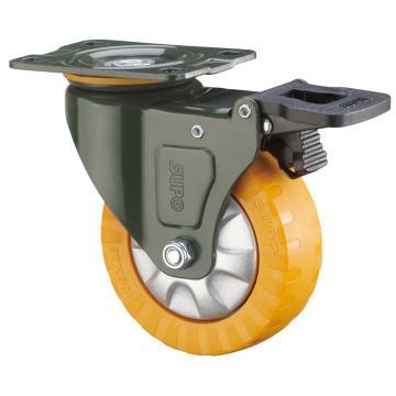 SUPO 03S款墨绿漆2寸平底双刹单轴承橙色PUF轮 J03S-01D-50-361