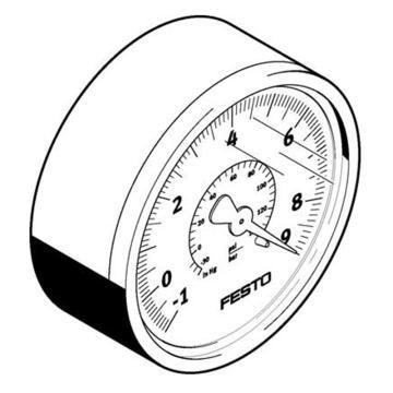 费斯托FESTO 真空压力表,R1/4,-1至0 bar,VAM-63-V1/9-R1/4-EN,537814