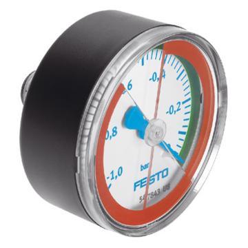 费斯托FESTO 真空压力表,R1/4,-1至0 bar,VAM-63-V1/0-R1/4-E-RG,547843