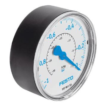 费斯托FESTO 真空压力表, R1/4 ,-1至0 bar,VAM-63-V1/0-R1/4-EN,537811