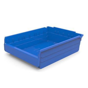 力王 货架物料盒,500*400*150mm,全新料,5个/箱,不含分隔片,SF5415-蓝色