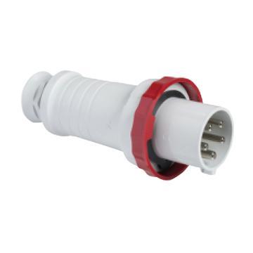 施耐德 380~415V快速连接移动工业插头(63A 6h IP67 5P 红),81383
