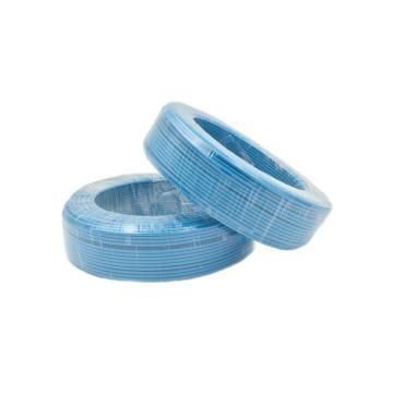 津达 阻燃聚氯乙烯绝缘多股单芯软线, ZD-BVR 4mm²蓝色