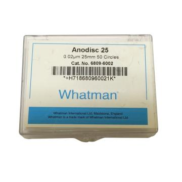Whatman Anopore无机膜,0.02um/25mm,50片/盒