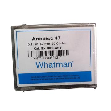Whatman Anopore无机膜,0.1um/47mm,50片/盒