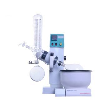 科泰 小型旋转蒸发仪,0.5-2L,立式,恒温数显特氟隆复合水浴锅,温度转速数显,自动升降,RE-2000B