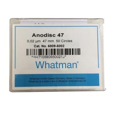 Whatman Anopore无机膜,0.02um/47mm,50片/盒
