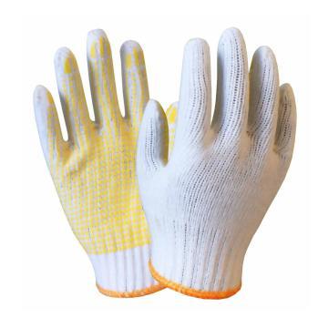 海太尔 0003 800g涤棉点塑手套,均码,12副/打