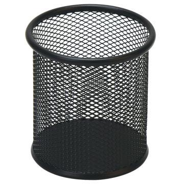 齐心 B2259 耐用铁网圆笔筒 黑