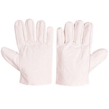 佳的D16V-l 2*2本白全棉帆布手套,双层加固手掌,12副/打