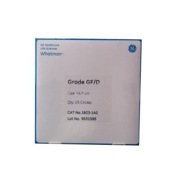 滤纸,GF/D 14.2cm 25张/盒