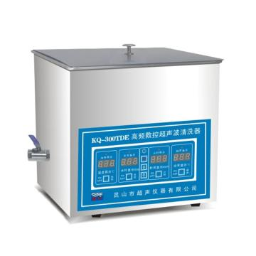 超声波清洗器,台式高频数控,KQ-300TDE,超声频率:80KHz,清洗槽尺寸:300x240x150mm