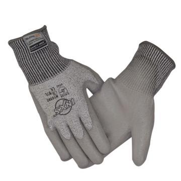 赛立特 N10590-9 手掌浸灰色PU手套,13针BLADEX5防切割针织内胆