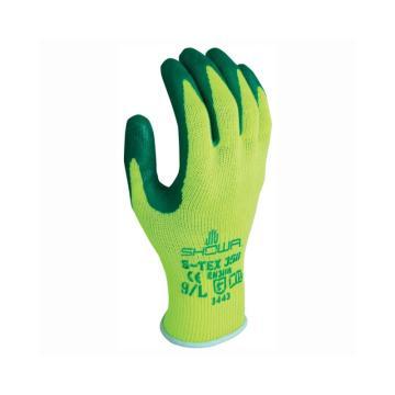 防切割手套,荧光黄,绿色涂层,丁腈橡胶涂层,9/L
