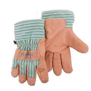 威特仕 防寒手套,10-2289-L,保暖柔淡黄猪青皮手套