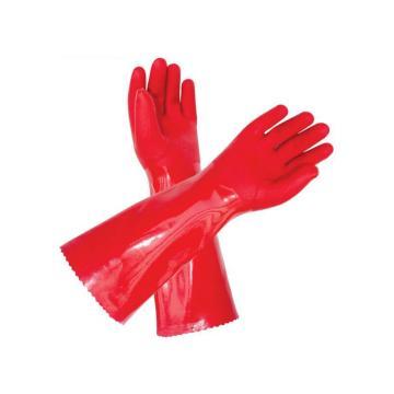 冬季保暖防寒手套,内衬加绒,40cm,红色