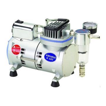 圣斯特 空压机,无油式,最大压力5.6kg/c㎡=5.5bar,最大流速:12L/min,R320