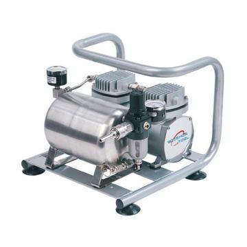 圣斯特 无油空压机,最大压力:60psi=4.1bar,最大流速:60L/min(含储气筒),R440