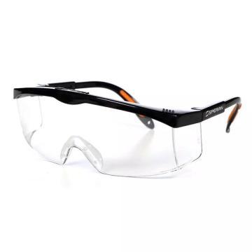 霍尼韦尔 S200A 透明镜片 黑色镜框 防雾眼镜,100110