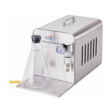 过滤装置,真空度:-650mmHg;流速:34L/min真空,便携式,配有1L带底部排水口废液瓶、真空调节阀