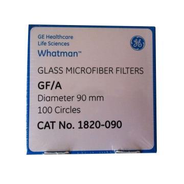 Whatman玻璃微纤维滤纸(无粘合剂),GF/A,9.0CM,100/PK