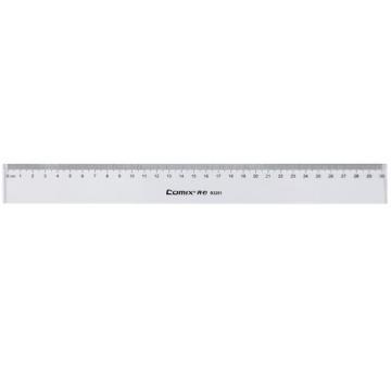 齐心 B3251 精准刻度直尺 30CM 透明