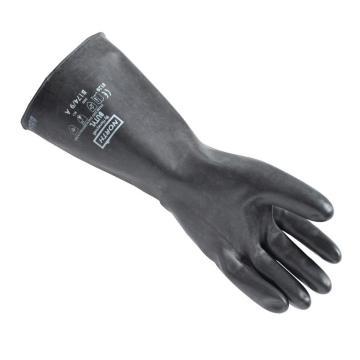 霍尼韦尔B174/9 NORTH BUTYL TM手掌光滑丁基合成橡胶手套,厚0.43mm,长35cm,卷边袖