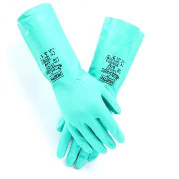 霍尼韦尔Honeywell 丁腈防化手套,LA102G-9,无衬丁腈手套 内层消毒