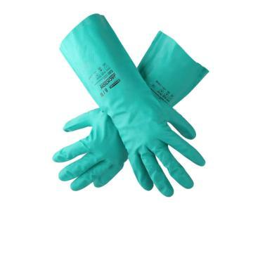 金佰利 94445-S G80 绿色丁腈防化手套,12副/袋,5袋/箱