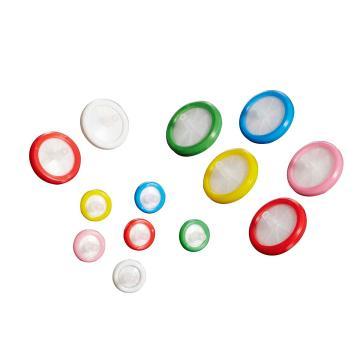 25mm针头式过滤器,0.22um,尼龙膜,粉红色包边,1个/包,45个/盒,360个/箱