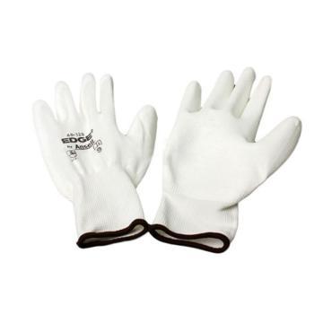 安思尔Ansell PU涂层手套,48125090,弹性针织袖口 白色衬里 白色涂层