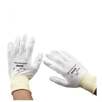 Ansell 48125080涂层手套,白色衬里,白色涂层,144副/箱