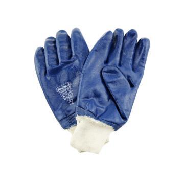代尔塔DELTAPLUS 丁腈涂层手套,201155-10,重型丁腈全涂层手套
