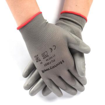 霍尼韦尔 2100250CN07 掌浸PU手套,灰色