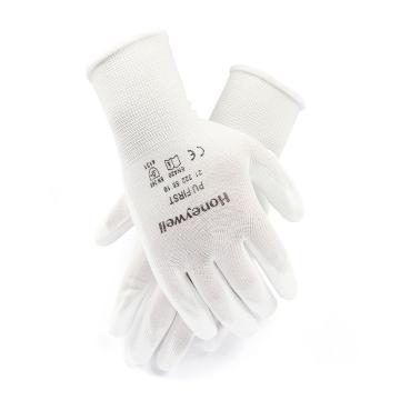 霍尼韦尔 2132255CN-8 尼龙掌浸PU涂层耐磨手套,白色