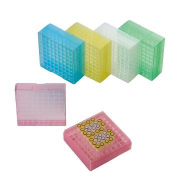 彩色PP冷冻盒,2英寸,81格,5个/袋,4袋/箱