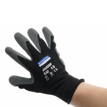 金佰利 97271A-M G40 灰黑乳胶涂层手套,12副/袋,5袋/箱