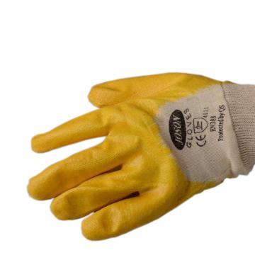强生 82003501C 丁腈浸胶手套,黄色