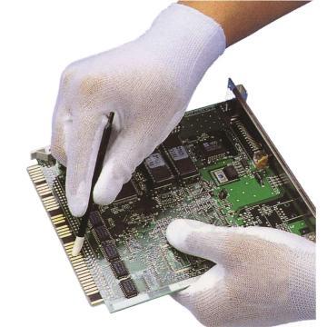 强生 PU涂层手套,82903501-7,PU手套 手掌涂层(手腕边红色)