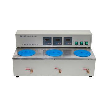 三孔三温水槽,DK-8D,控温范围:RT+5~99℃,内部尺寸:(Ф165x120)x3mm