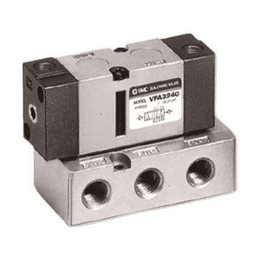 SMC VFA系列5通气控阀,底板配管型,G3/8,VFA5144-03F