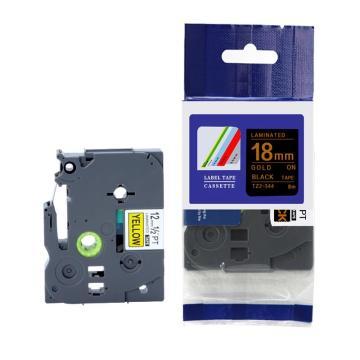 标签色带,黑底金字TZ2-344宽度18mm 适用于兄弟TZ系列标签机