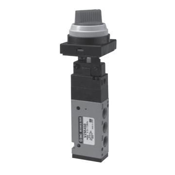 SMC 机械阀,旋钮(2位),VZM450-01-34G