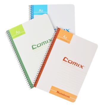 齐心 办公必备螺旋装订本,C4514 A5 50页 颜色随机 单位:本