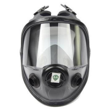 霍尼韦尔 54001 双滤盒弹性橡胶全面罩,M/L