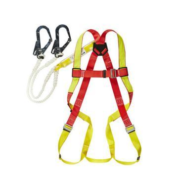 霍尼韦尔Honeywell 全身式安全带,DL-C2,单挂点集成式安全带 中号 配1.2米双挂钩缓冲系绳