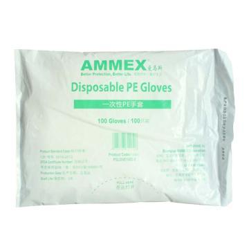 AMMEX PGLOVE100C-2 一次性PE手套,100只/袋