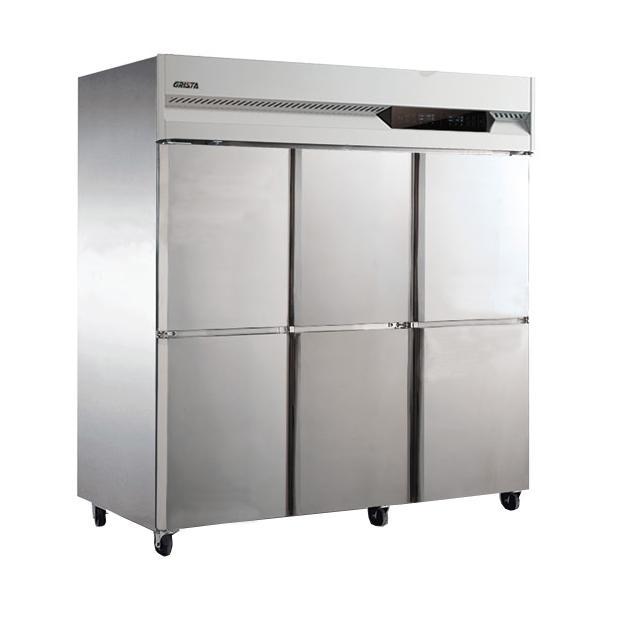广东星星 格林斯达A系 四门单温冷冻风冷柜,D1.6A6F,1810×815×1950mm,304#不锈钢,环保冷媒