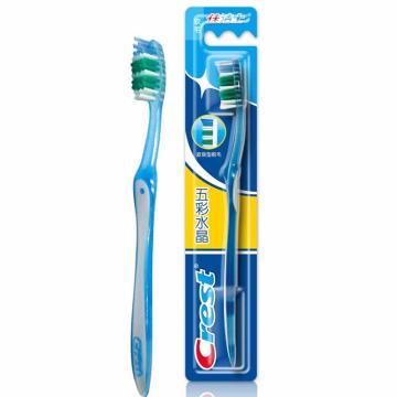 佳洁士五彩水晶牙刷,(软毛) 单位:个